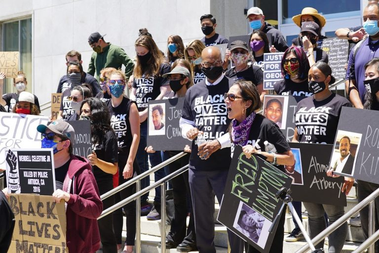 SF PUBLIC DEFENDERS HELD A DEMONSTRATION IN UNITY WITH PUBLIC DEFENDERS ACROSS THE COUNTRY CALLING FOR RACIAL JUSTICE & AN END TO POLICE BRUTALITY
