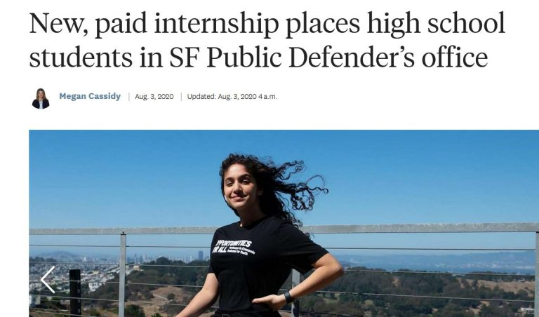New, paid internship places high school students in SF Public Defender's office