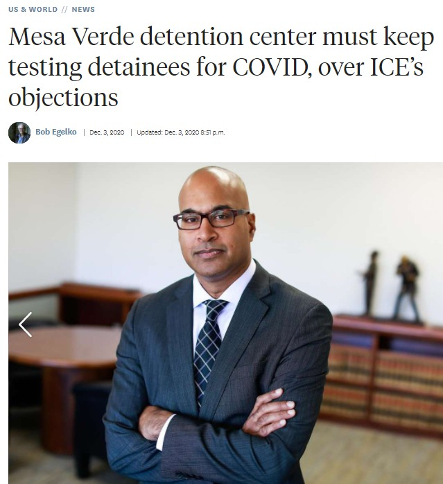Mesa Verde detention center must keep testing detainees for COVID, over ICE's objections
