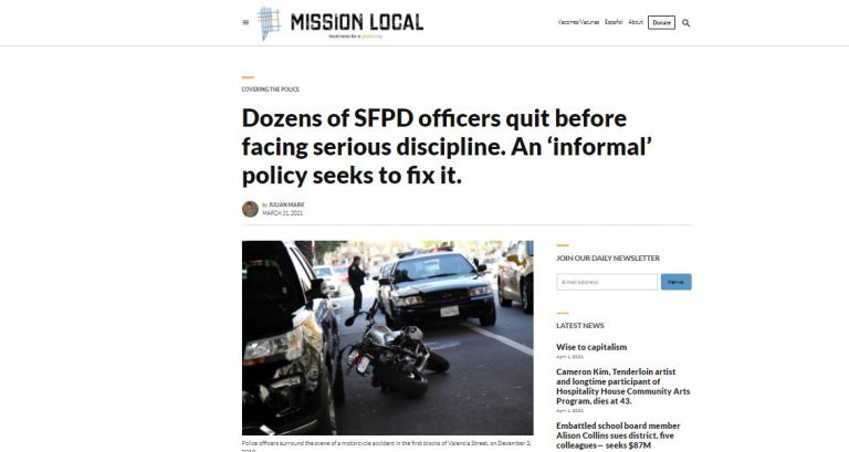 Dozens of SFPD officers quit before facing serious discipline. An 'informal' policy seeks to fix it.